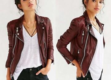 Осенние кожаные куртки для женщин