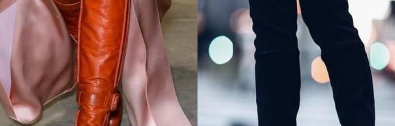 Элегантные ботфорты без каблука 2019 года