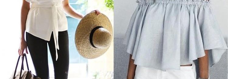 Летние блузки для модных женщин