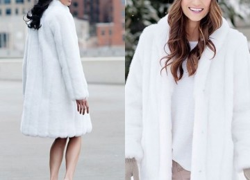 Белая норковая шуба для девушек
