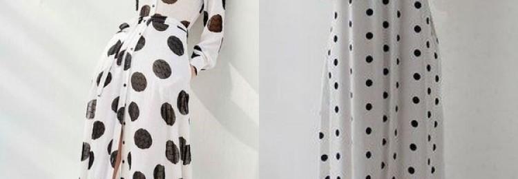 Платье в горошек 2019 года: тренд первого модного плана