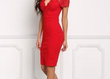 Вечернее красное платье на Новый год