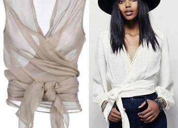 Самые модные модели женских блузок с запахом 2019 года