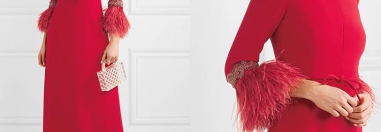 Платья с перьями для воздушного образа