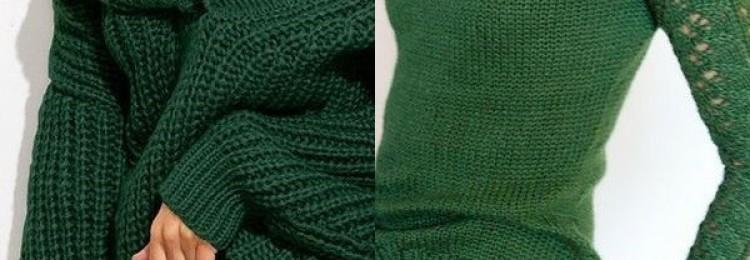 Зеленые свитеры для женщин и девушек