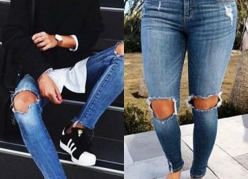 Все о джинсах с дырками на коленях