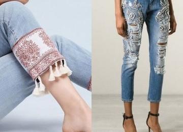 Укороченные джинсы для женщин