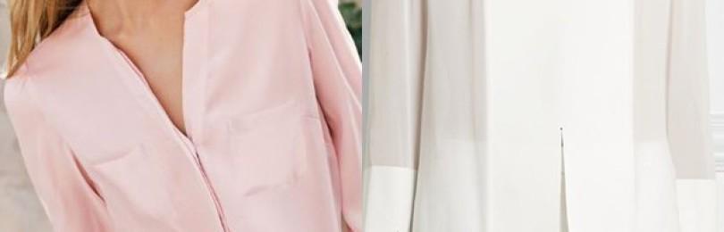 Шелковые блузки для полных и стройных женщин
