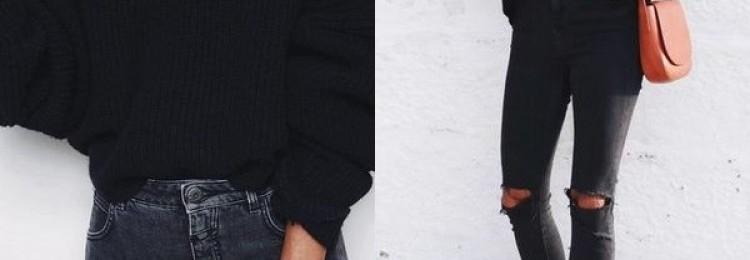 Черный свитер для молодежи