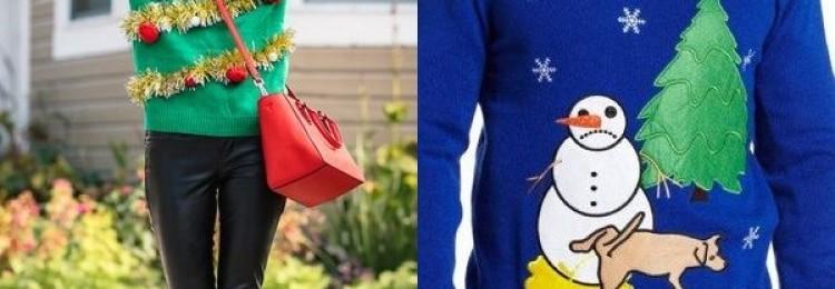 Новогодние свитеры и рождественские пуловеры