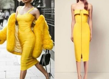 Желтые платья для солнечных девушек