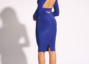 Синее нарядное платье на Новый год