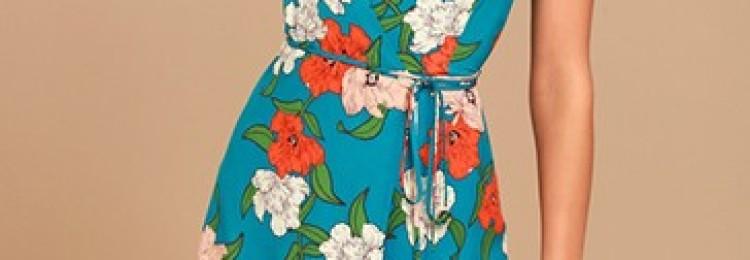 Платья с цветочным принтом: повседневные и вечерние модели 2019 года
