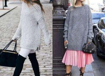 Длинные свитеры — модные фасоны для женщин