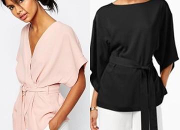Блузки кимоно в японском стиле
