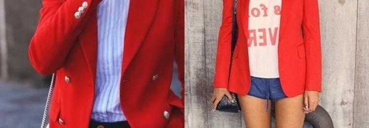 Красный пиджак или жакет для женщин
