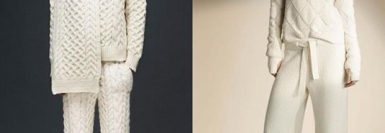 Вязаные костюмы для женщин: новинки года