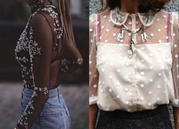 Прозрачные блузки для девушек