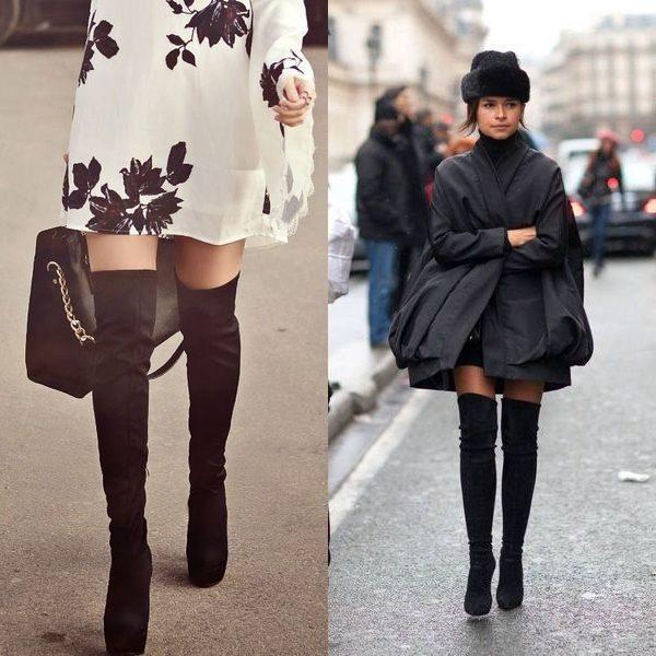 Женские зимние ботфорты: модные модели 2019 года