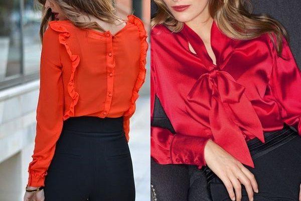 Красные блузки 2019: дополнение капсульного и повседневного гардероба