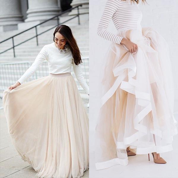 Разные юбки в пол