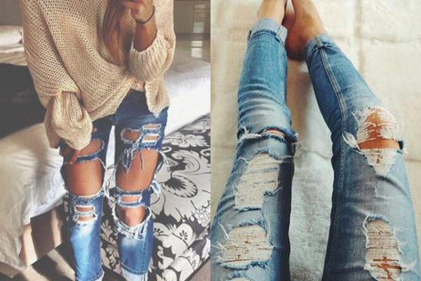 Модны ли в 2018 году рваные джинсы и какие именно фасоны стильно носить