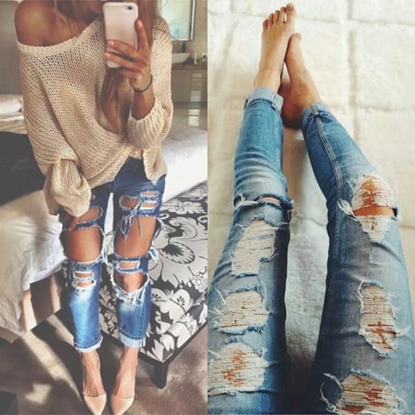 Как сделать джинсы рваными 2017 891