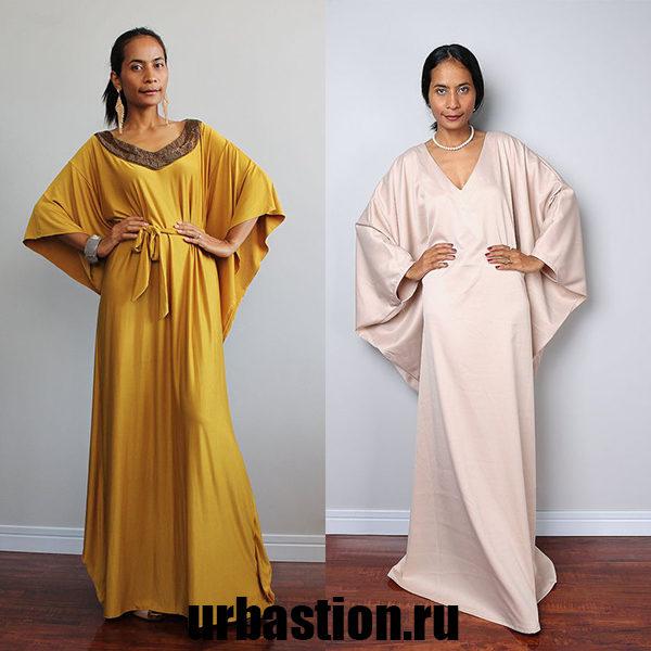 Модные женские платья фасона «летучая мышь» на 2018 год