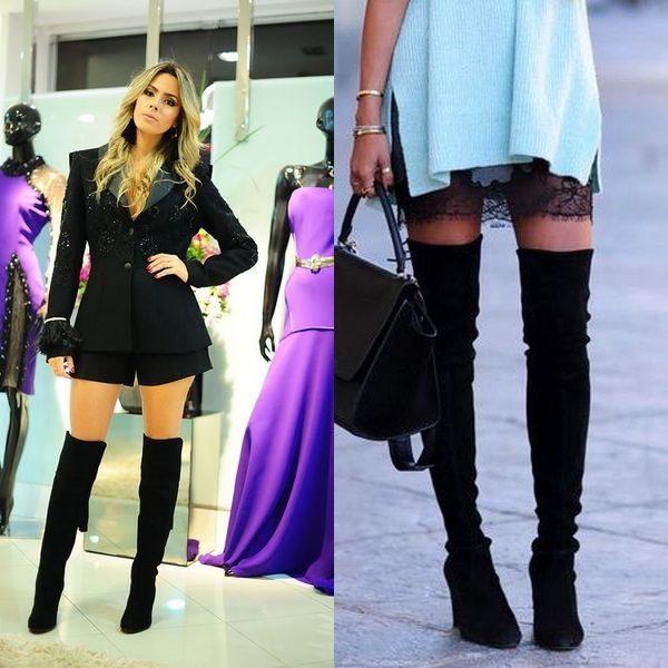 Женские красивые ботфорты на осень и весну 2019 года