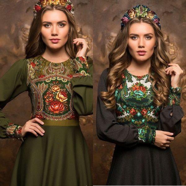 Платья в русском стиле в современной интерпретации модных дизайнеров