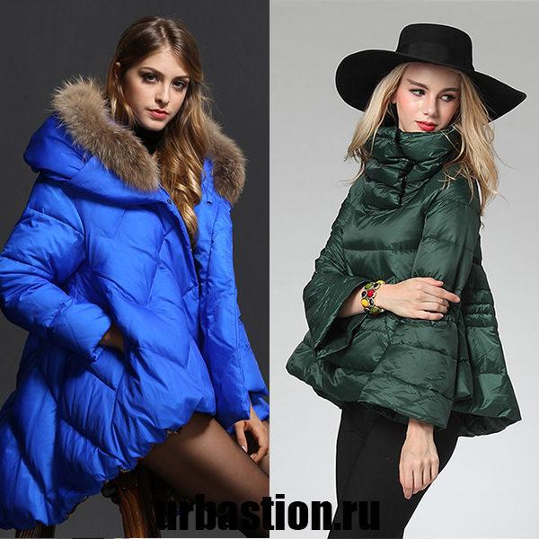 Модные женские модели пуховиков с пышной и расклешенной юбкой на зиму 2018 года