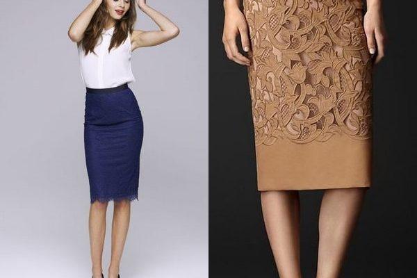 Модные кружевные юбки для праздника и для повседневного образа на фото