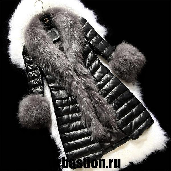 Женский кожаный пуховик: новая ветка моды