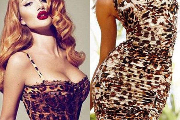 Животная страсть в женском леопардовом платье на 2018 год с фото