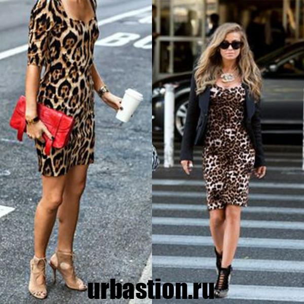 На фото леопардовое платье