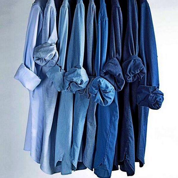 Синяя рубашка: модный цвет и модели на 2019 год