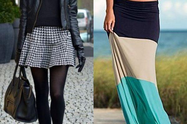 Модная юбка с заниженной талией на 2018 год