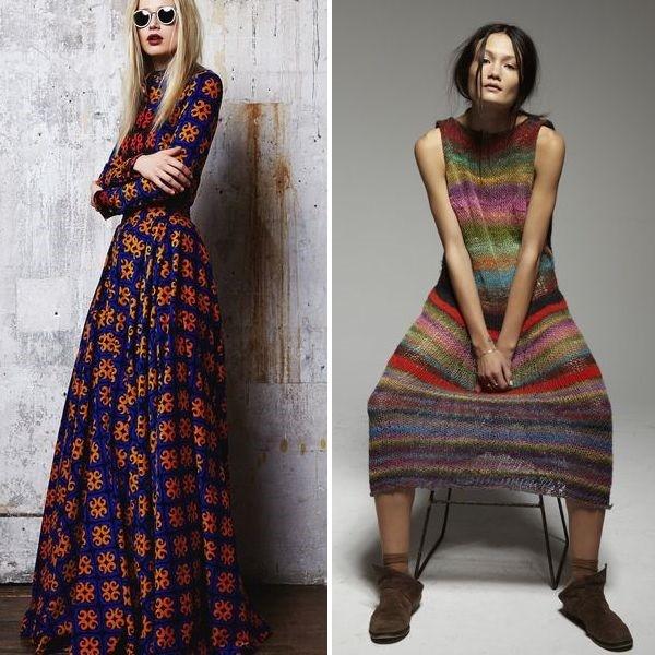 теплые платья 2019 вязаные длинные фасоны для женщин и девочек фото