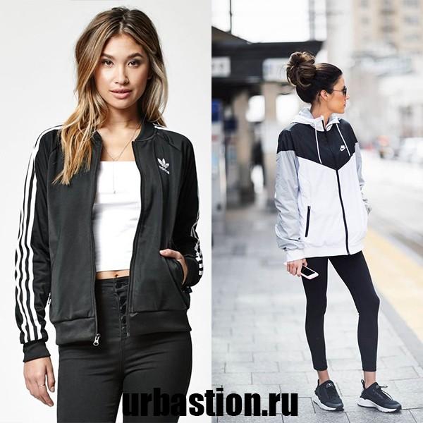 На фото модная спортивная ветровка Adidas