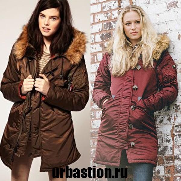 На фото зимние женские куртки Аляски на 2018 год