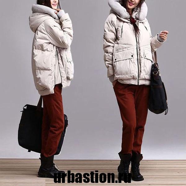 на фото кожаные женские пуховики на зиму