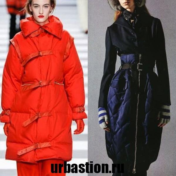 модные зимние женские пуховики на 2018 год ультрамодные модели