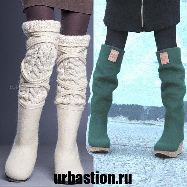 Русский стиль зимы 2018 года: женские валенки на модных подиумах
