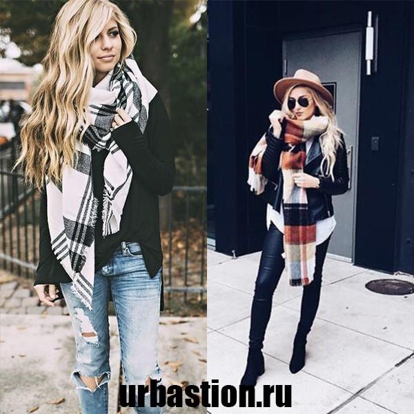 Модные шарфы на зиму фото