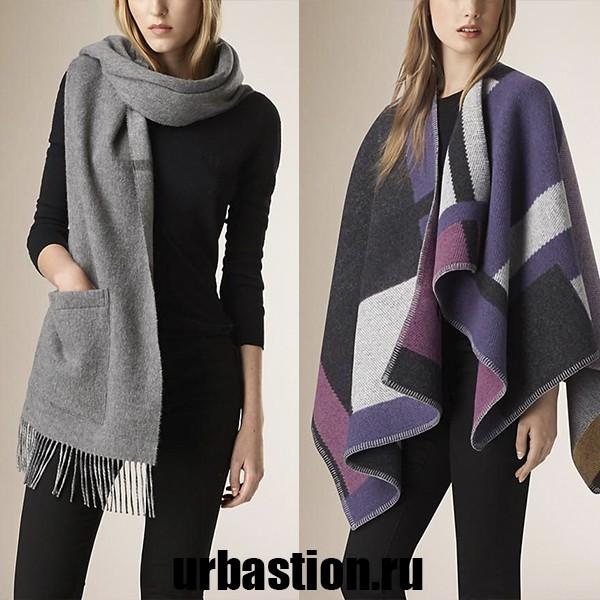 на фото идея с чем носить теплый зимний шарф