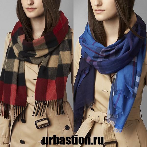 на фото теплые меховые шарфы