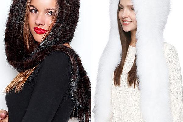 Модный меховой и вязанный капор для женщин на 2018 год: фото лучших моделей