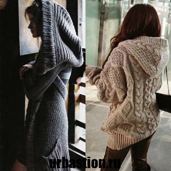 На фото стильный женский свитер