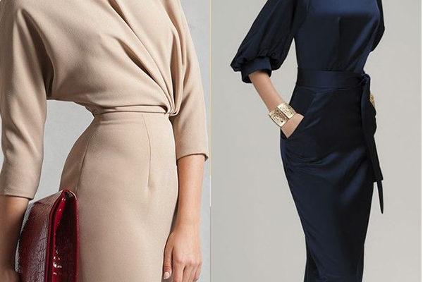 Офисные платья для красивых женщин