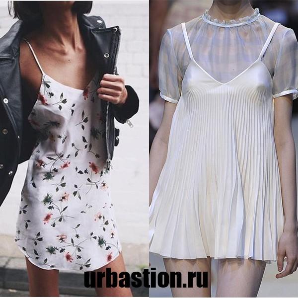 Платье комбинация на фото